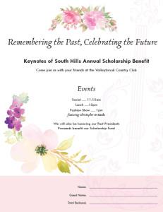 Keynotes Luncheon Invitation